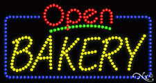 "NEW ""OPEN BAKERY"" 32x17 SOLID/ANIMATEDLED SIGN W/CUSTOM OPTIONS 25416"