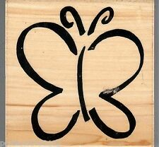 DRL Designs Rubber Stamp Beautiful Artistic Outline Butterfly S25