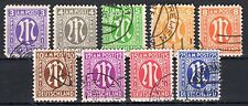 Germany / Bizone - 1945 Definitives American printing - Mi. 1-9 FU