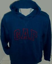 GAP Men's Navy with Red Crackle Logo Hoodie Sweatshirt Size L