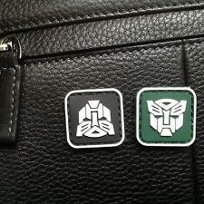 2 MINI TRANSFORMERS AUTOBOT 3D TACTICAL ARMY MORALE PVC GLOW PATCH