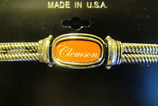CLEMSON TIGERS silverton stretch bracelet With CLEMSON logo brand new