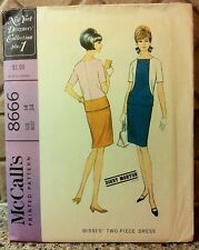 Vintage 1967 Size 14 McCall's 8666 Pattern Digby Morton Mad Men Astronaut Wives