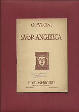Libretto Opera 1931 Suor Angelica Giacomo Puccini Musica Gioacchino Forzano