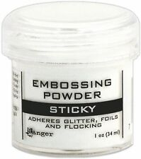 Ranger EMBOSSING POWDER Sticky 1oz 34ml ADHERES GLITTER FOILS FLOCK EPJ35275