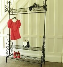 black ornate metal clothes rail shabby style home decoration wardrobe hanger