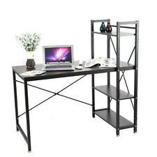 Home Office Simplicity Desk Computer PC Table Workstation with Bookcase Shelf UK