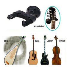 New Black Guitar/Bass Wall Hanger Hook Holder Mount Stand For All Size Guitar