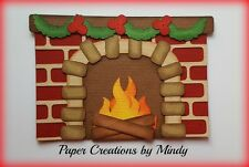 Craftecafe Mindy Christmas Fireplace Chimney Premade Paper Piecing scrapbook