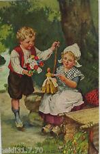 """""""Kinder, Holzschuhe, Puppe, Blumen"""" 1914,Glück im Winkel ♥ (7811)"""