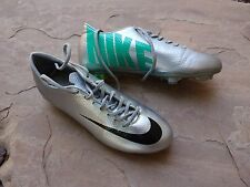Nike MERCURIAL Glide III FG Soccer Cleats Size 8 Shoes | Silver Green | Perfect