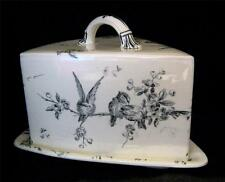 Cheese Dish Oriental Ivory Songbirds  Powell Bishop & Stoner C1880