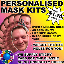 16 PACK PERSONALIZED FACE MASK KIT - SEND A PIC & WE SUPPLY ALL YOU NEED TO DIY!