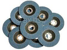 10 Pack 36 Grit 115 x 22mm Zirconium Sand Flap Disc NEW