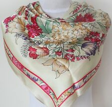 Gorgeous Lady's Square Scarf 100% Silk RICH FLORAL Scarf Shawl Wraps
