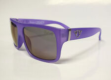 Flattop Sonnenbrille Oldschool 80er Lila Matt Retro Vintage Sunglasses