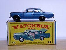 """MATCHBOX Lesney no.46c Mercedes-Benz 300se in serie e4 di tipo """"NUOVO MODELLO"""" BOX NM!"""