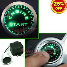 12V Auto Engine Push Start Button Ignition Starter UNIVERSAL Kit, Bright GREEN