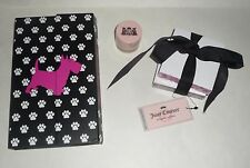 Juicy Couture lot ~ Stationary notebook Organizer + post it memos & royal creme