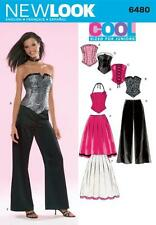 NEW LOOK SEWING PATTERN Juniors Corset Top, Pants & Skirt SIZE 3/4 - 13/14 6480