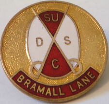 SHEFFIELD UNITED Vintage SUPPORTERS CLUB Badge Brooch pin Gilt 29mm x 29mm
