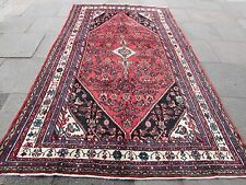 Old Traditional Hand Made Rugs Persian Oriental Carpet Rug Wool Pink 315x195cm