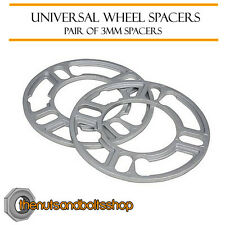 Wheel Spacers (3mm) Pair of Spacer Shims 5x112 for Audi A4 [B6] 01-05