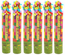 6 Jazzy Confetti Cannons - 20cm - Shooter Party Popper Wedding Safe Air
