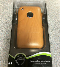 iPhone 3GS/3G Handcrafted Real Cherry Wood Case