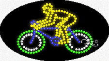 NEW BICYCLE LOGO 27x15 OVAL SOLID/ANIMATED LED SIGN w/CUSTOM OPTIONS 24325