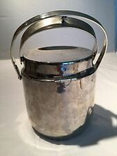 Mid Century Modern Stainless Steel Ice Bucket