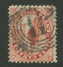 """CANADA #15 USED 4-RING NUMERAL CANCEL """"11"""" (.04)"""