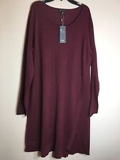 NWT EILEEN FISHER Merino Wool Long Sweater Dress Sz L $350