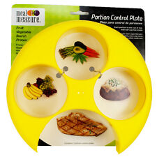 Meal Measure Portion Control Plate (Yellow) Diet Weight Loss and Healthy Eating