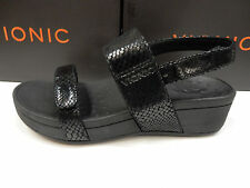 VIONIC W/ ORTHAHEEL TECHNOLOGY WOMENS SANDALS BOLINAS BLACK SNAKE SIZE 7