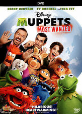 Muppets Most Wanted (DVD, 2014) Walt Disney - Tina Fey, Ricky Gervais, Ty Burrel