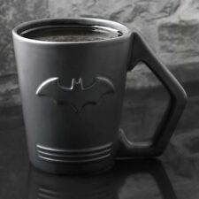 Official DC Comics Black Batman Bat Symbol Logo Shaped Coffee Mug - Boxed