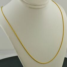 14K YELLOW GOLD OVER .925 SILVER 1.0MM ADJ. 16-24 INCH ROUND WHEAT PENDANT CHAIN