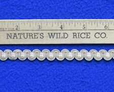 """Ric Rac Ribbon Trim Solid Beige 121"""" Total Length Sewing 2 Pieces"""