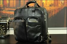 BOSCA Black Backpack Briefcase Bag Leather ALL IN 1 Urban Commuter Luggage Case