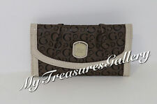 NEW Guess Cologne SLG Large Wallet Checkbook Clutch Taupe NWT