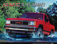 1984 GMC S-15 Jimmy 8-page Original Sales Brochure Catalog