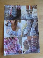 Knitting Pattern, Women's Fair Isle Socks, Leg Warmers & Wrist Warmers d.k.