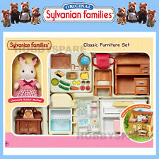 SYLVANIAN FAMILIES CLASSIC FURNITURE SET with RABBIT MOTHER READY TO PLAY 5220