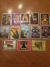 13 Prism Sticker Horror  Movie Lot CREEPSHOW Scanners Jason Lives Etc