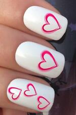 VALENTINES DAY NAIL ART #010 x16 PINK LOVE HEARTS WIFE TRANSFERS DECALS STICKERS