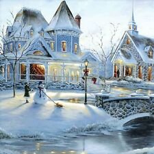 Snow Town Scenery DIY Diamond Painting Mosaic Kit Picture