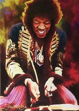 JIMI HENDRIX 1ST ED SKETCH CARD EDWARD VELA ART ACEO UNLIMITED 2015
