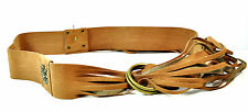 LADIES STUNNING BROWN LEATHER MULTI LAYER BELT AZTEC TRIBAL COWBOY LOOK (MZ1)