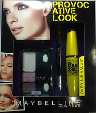 Maybelline The Provocative Look The Colossal Mascara + Eyeliner +Eyeshadow SET